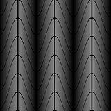 Design seamless monochrome zigzag wave pattern
