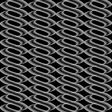 Design seamless monochrome twisted wave pattern