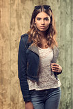 casual girl in fashion portrait