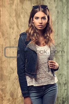 casual girl in fashion portrait