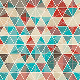 Abstract triangle design background