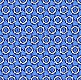 Seamless hexagons blue pattern.