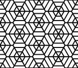Hexagons latticed texture. Seamless geometric pattern.