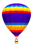 Hot Air Balloon on White