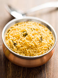 indian golden biryani rice