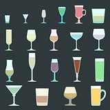 solid colors alcohol glasses set