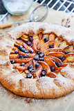 Fruits and berry french galette
