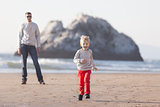 family at californian beach