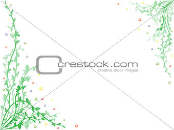 Postcard with floral elements