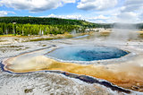 Scenic view of Crested pool in Yellowstone NP