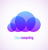 Cloud computing logo template icon