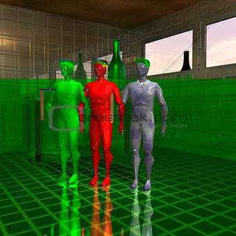 Three alien