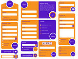 Trendy flat web form design