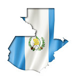 Guatemalan flag map