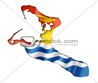 Kiribati flag map