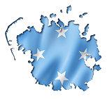 Micronesian flag map
