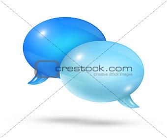 Blue speech bubbles