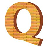 brick letter Q