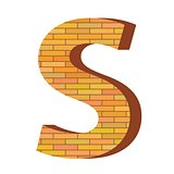 brick letter S
