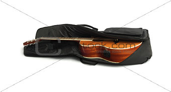Acoustic Guitar in Black Carry Bag