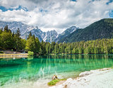 Lake Fusine in the Italian Alps