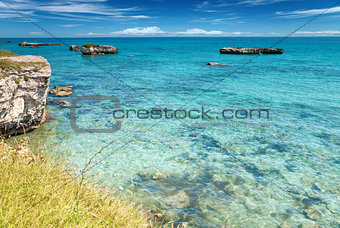 Crystal clear waters in southern Italy
