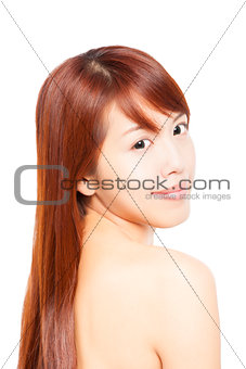 close up young beautiful Woman face