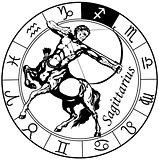 sagittarius zodiac black white