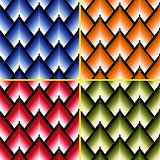 Four seamless patterns with different colors