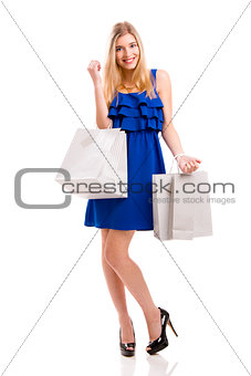 Beautiful woman shopping