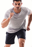 Athletic man running