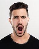 Man yelling