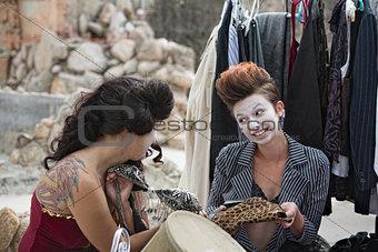 Cirque Ensemble Cast Shoosing Costumes