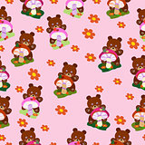Children seamless Bears for girls