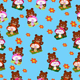Children seamless Bears