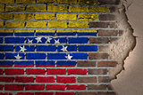 Dark brick wall with plaster - Venezuela
