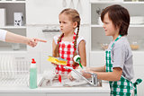 Kids ordered to do the dishes