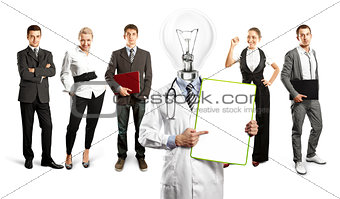 Business Team With Lamp Head Doctor