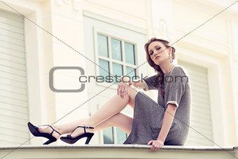 girl in outdoor fashion portrait