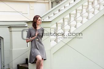 pretty woman in fashion outdoor portrait