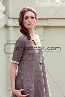 fashionable woman in outdoor shoot