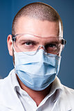 Portrait of a serious confident doctor
