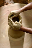 Potters Hands with Clay