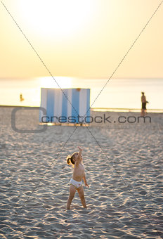 Baby girl on the beach