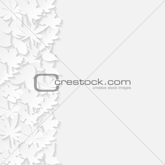 Abstract background with paper leaves
