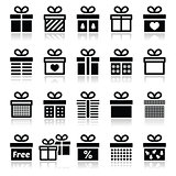 Present, gift box vector icons set