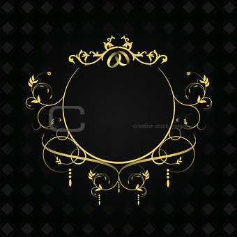 Calligraphy ornament with wedding rings