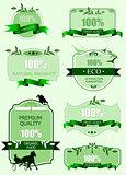 Eco labels with retro vintage design. Vector illustration
