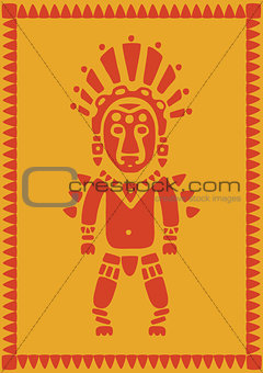aztec on background