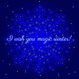 magic winter postcard